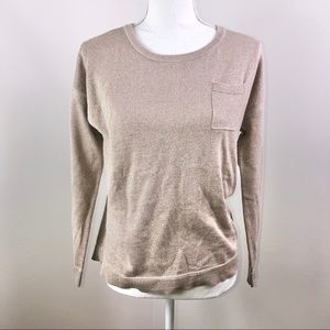 Caslon Gold Shimmer Long Sleeve Sweater